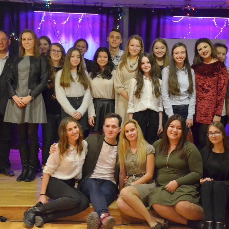 Spotkanie wigilijne Młodzieżowej Rady Miejskiej w Kętach